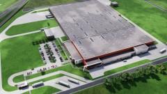 Prezydent Bełchatowa Mariola Czechowska zainicjowała budowę nowej fabryki DS SMITH wbijając w ziemię pierwszą łopatę.