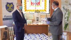 Środki do walki z koronawiusem trafiły do Gminy Kamieńsk