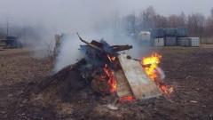 Wypalanie śmieci na terenie Gminnego Zakładu Komunalnego(aktualizacja)