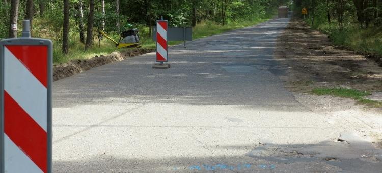 Budowa drogi w toku