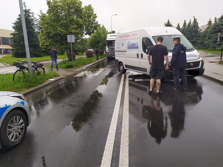 Potrącenie rowerzysty na ul. Czaplinieckiej
