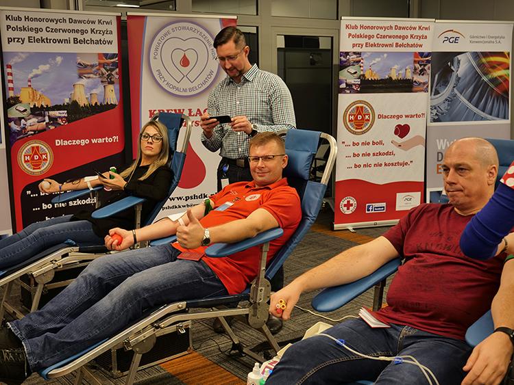 W siedzibie PGE GiEK S.A. zbierano krew dla ofiar wypadków drogowych